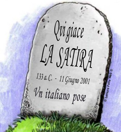 la satira è morta